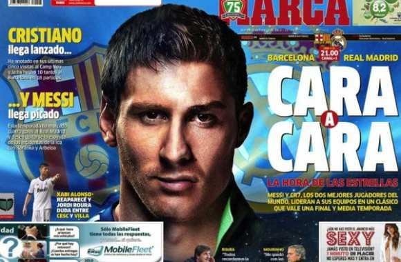 Photo : La couv' Leo/CR7 de Marca