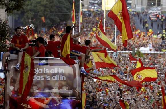 Photo : La fête de la Roja à Madrid