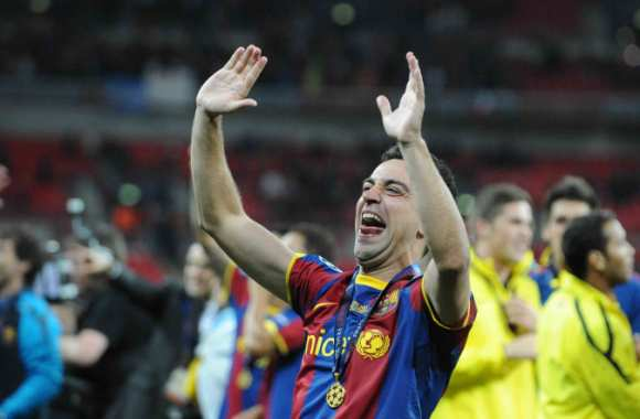 Photo : La joie de Xavi