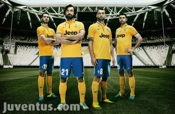 Photo : la Juve jouera en jaune