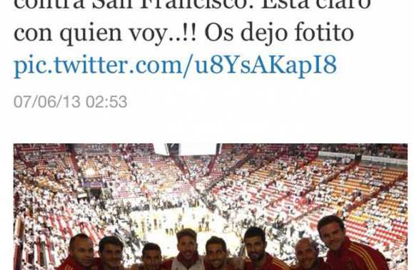 Photo : la Roja aux finales NBA