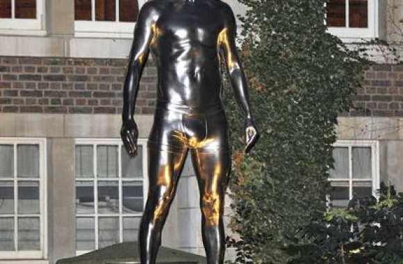 Photo : La statue de Beckham en slip