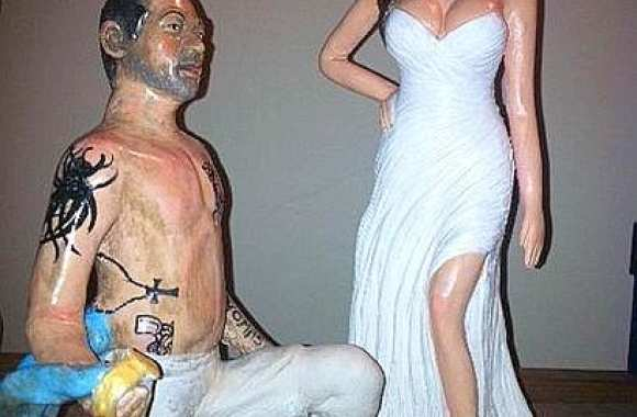 Photo : Lavezzi en statuette