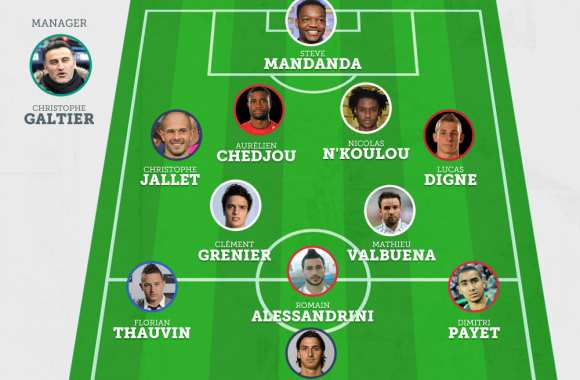 Photo : Le 11 de Barton version Ligue 1