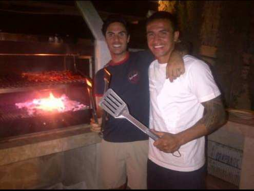 Photo : Le barbecue d'Arteta