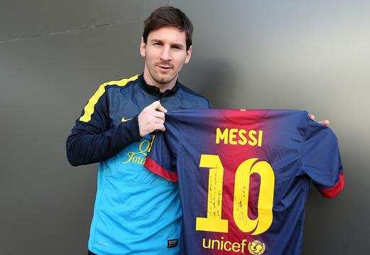 Photo : le cadeau de Messi