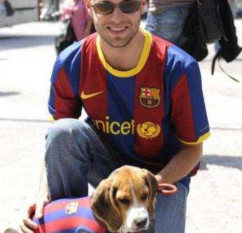 Photo : Le chien blaugrana