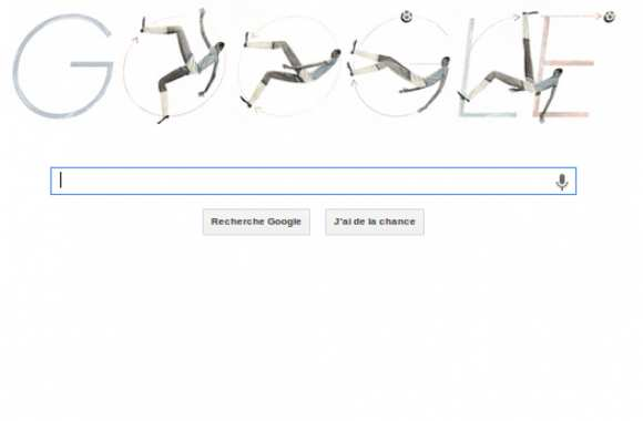 Photo : le doodle bicyclette