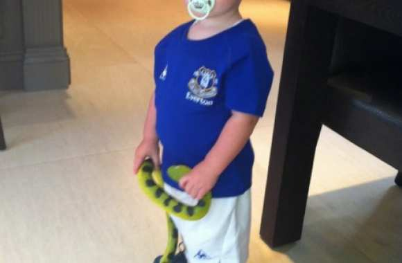Photo : Le fils de Rooney chez les Toffees