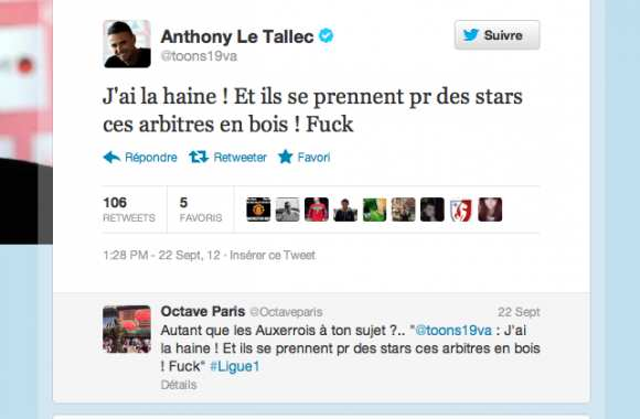 "Photo : Le ""Fuck"" de Le Tallec"