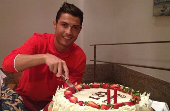 Photo : Le gâteau de Cristiano