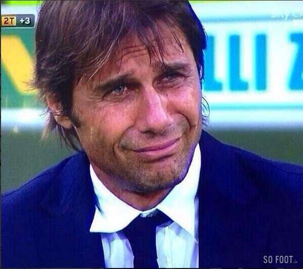 Cry Me A River! Juve manager Antonio Conte was so upset at 1st defeat of season to Fiorentia that he shed a tear