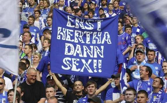 Photo: le Hertha, puis le sexe