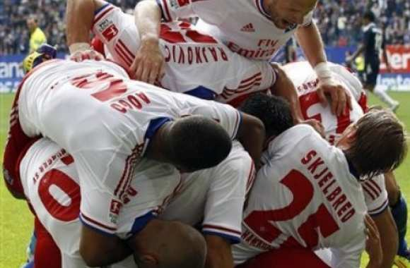 Photo: le HSV joue à Twister