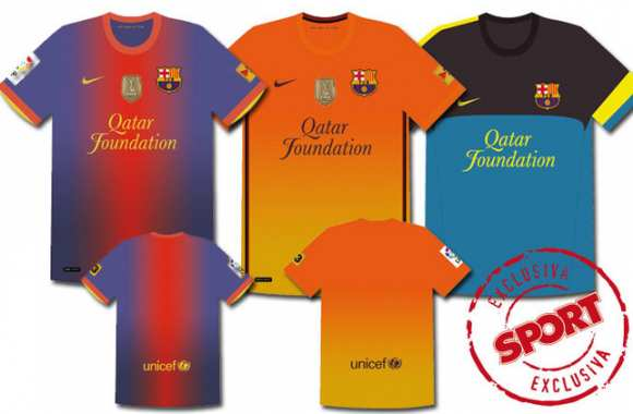 Photo: le maillot 2012-2013 du Barça