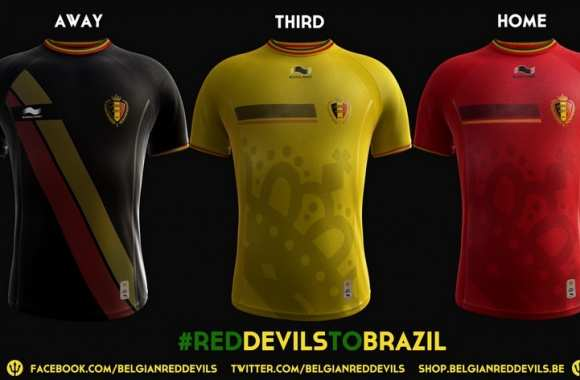Photo : Le maillot belge du Mondial 2014