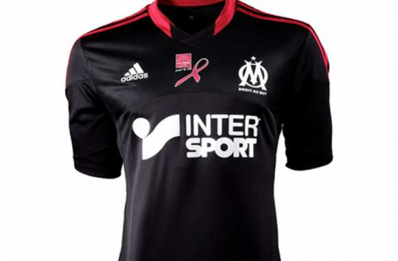 Photo : le maillot de l'OM contre le cancer