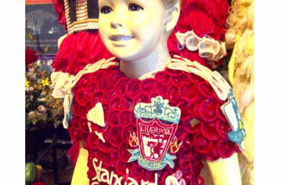 Photo : Le maillot de Liverpool en capotes