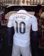 Photo : Le maillot du Real floqu� James