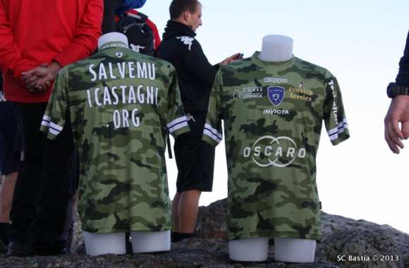 Photo: Le maillot maquis de Bastia