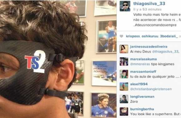 Photo : Le masque de Thiago Silva