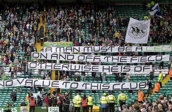 Photo : le message des fans du Celtic