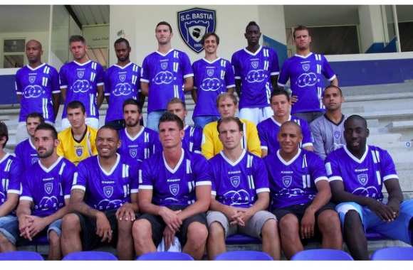 Photo : Le nouveau maillot de Bastia