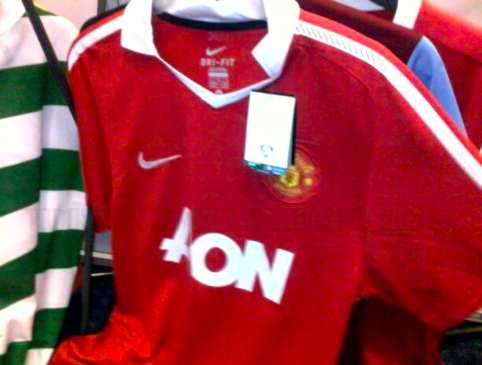 Photo: le nouveau maillot de MU