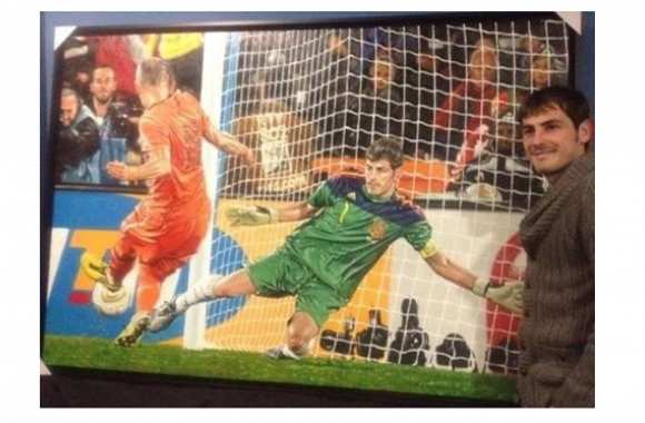 Photo : Le tableau de Casillas