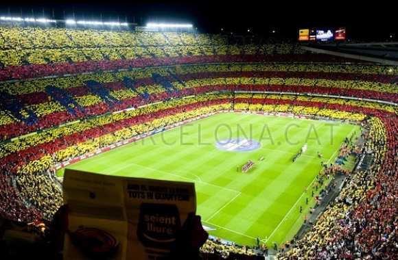 Photo : le tifo catalan du Barça