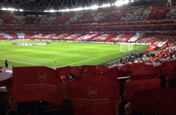Photo : Le tifo d'Arsenal