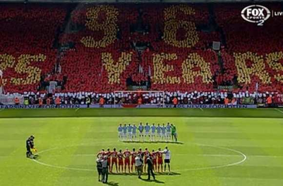 Photo : Le tifo d'Hillsborough