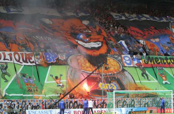 Photo : Le tifo des 20 ans de la Butte Paillade