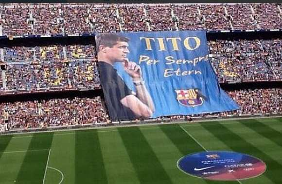 Photo : Le tifo hommage à Vilanova