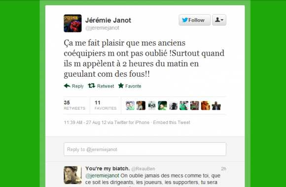 Photo : Le tweet de Janot