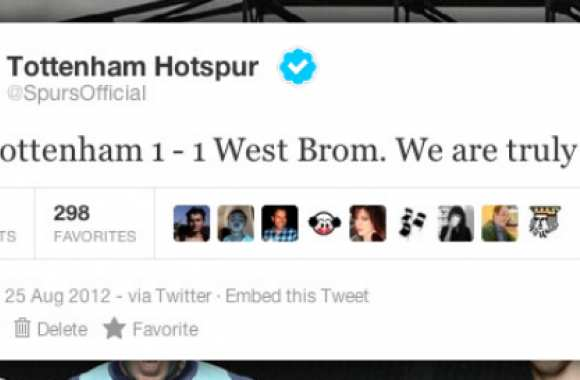 Photo : Le tweet de Tottenham