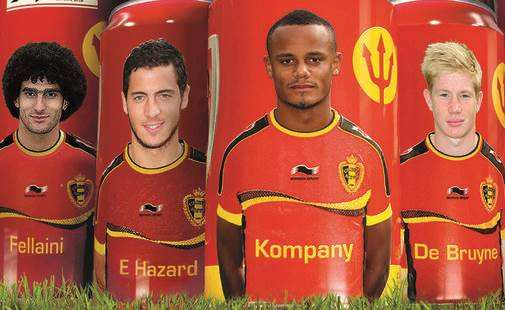 Photo : Les Diables Rouges en canettes