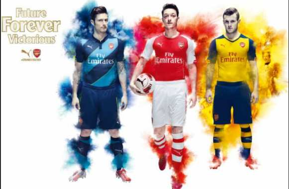 Photo : Les maillots officiels d'Arsenal