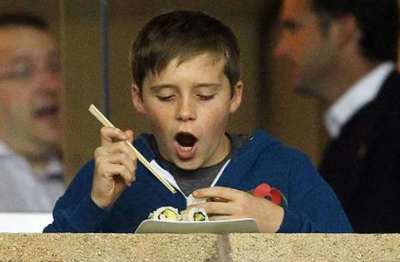 Photo : Les sushis du fils Beckham