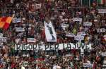 Photo : Les tifosi de la Roma chambrent la Juve