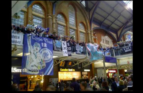Photo : Les Ultras de la Lazio à Londres