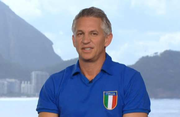 Photo : Lineker supporte l'Italie