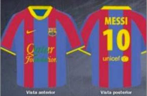 Photo : Maillot sponsorisé du Barça