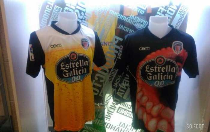 Photo : Maillots culinaires du Deportivo Lugo