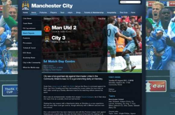 Photo: Manchester City bugge sa défaite