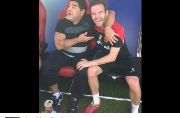 Photo : Mata rencontre Maradona