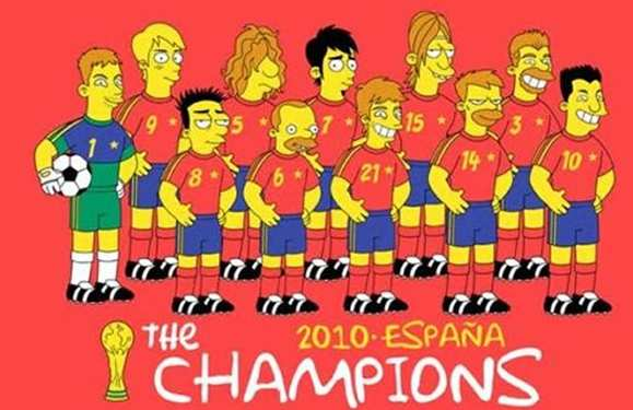 Photo: Matt Groening dessine la Roja
