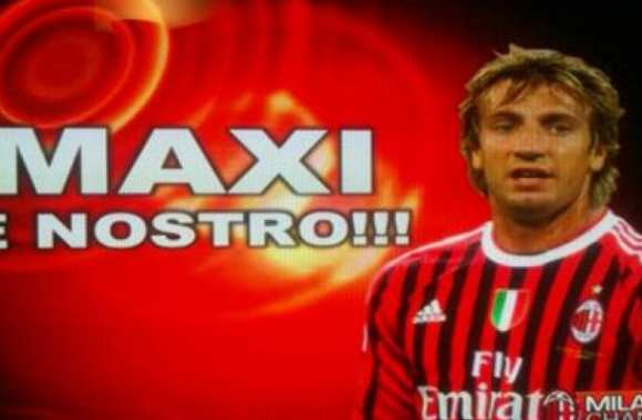 Photo : Maxi Lopez au Milan AC