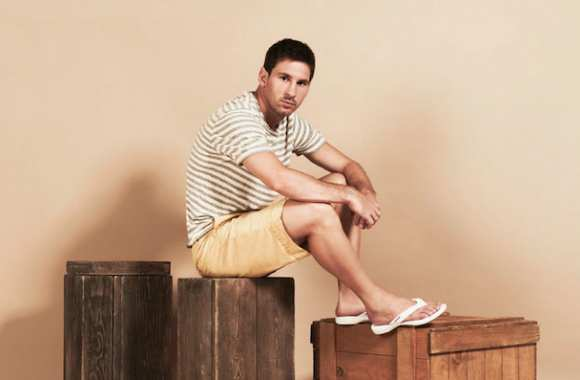 Photo : Messi et ses tongs
