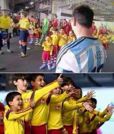 Photo : Messi, idole des enfants